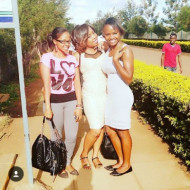 Mary Fridah and Friends: Just Finished exams @ road leading to engineering building