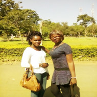 Judith Dariah and Friend: Out and about on campus