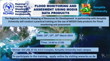 TRAINING ON THE USE OF MODIS DATA PRODUCTS